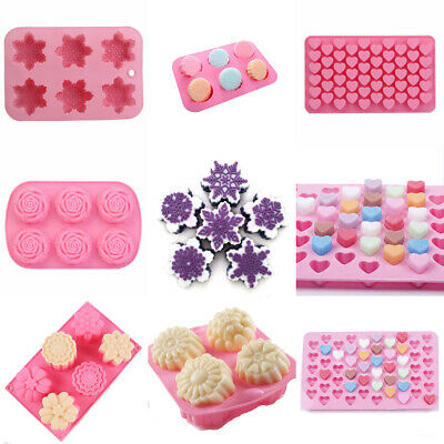Silicone Soap Mould Cake Chocolate Cookies Baking Candle Floral Mold Ice Cube