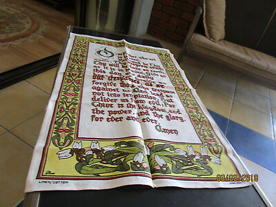 linen cotton tea towel -THE LORD'S PRAYER