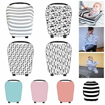 Mom Breastfeeding Cover Nursing Apron Baby Poncho Cotton Shawl Car Seat Canopy