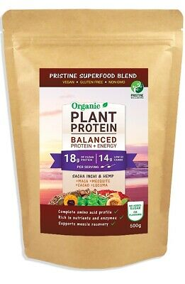 POTENT PLANT PROTEIN- VEGAN PROTEIN POWDER- ORGANIC SUPERFOOD BLEND- 500g powder