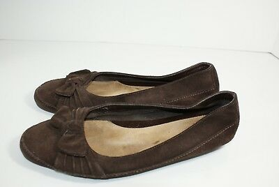 Aerosoles Sorbet Women's Size 9 M Brown Soft Suede Leather Slip On Loafer Shoes