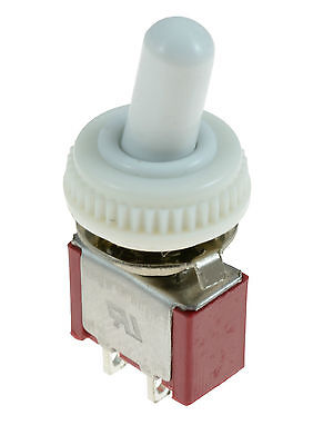 On/Off Mini Small Toggle Switch + White Waterproof Cover Mini small SPST 12V
