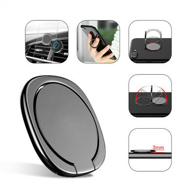 New 360° Rotation Mobile Phone Finger Grip Magnetic Car Holder Stand Mount Ring