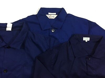 VINTAGE French  EU Worker CHORE Work Jackets - Blue - Various Sizes XS S M L XL