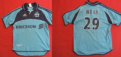 Olympic de Marseille jersey Adidas Weah No. 29 Ericsson OM Rare Vintage - XS