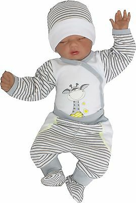 3 Tlg Set Baby Starterset First Outfit 50 56 62 68 100% Cotton Unisex