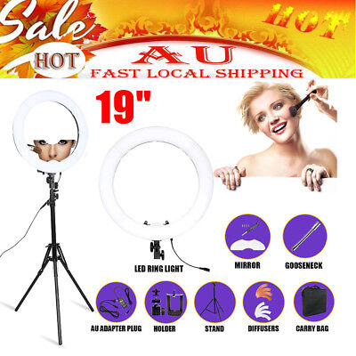 """19"""" Dimmable Diva SMD LED Ring Light Diffuser Mirror Beauty Fashion Photography"""