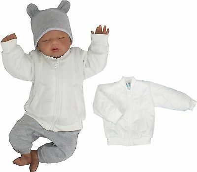 Baby Jacket College Spring Fall Gr 56 62 68 74 80 86 Christening White