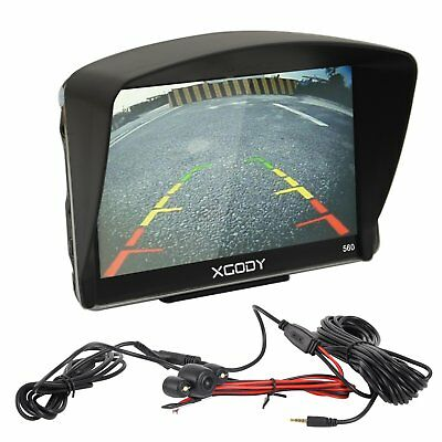 XGODY 5''  8GB GPS Car Navigation Built-in MP3 Bluetooth + Wired Reverse Camera