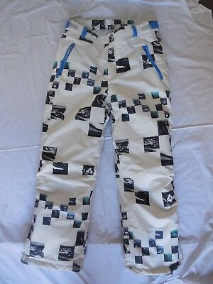 Be Fit Be You Mens Size X Large White Patterned Ski/snowboarding Pants