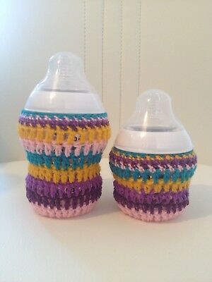 SET of 2 hand crochet baby bottle cover tomme tippe, avent Dr brown MAM Nuk