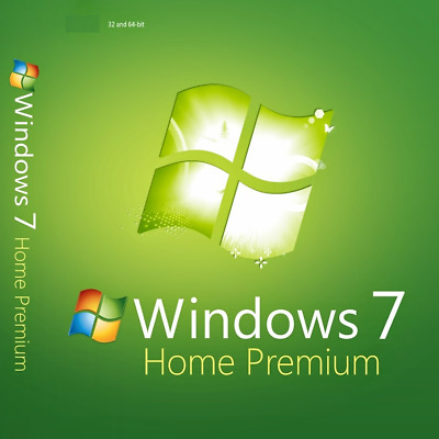 Microsoft Windows 7 Home Premium 32/64 bit MS Activation Key Full Version UK