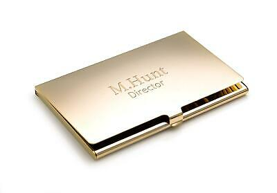 Personalised Gold Plated Business / Credit Card Holder - Engraved