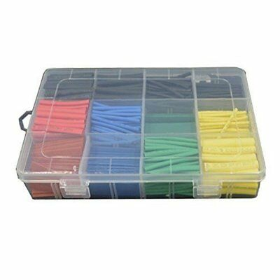 X328 PCS Assortment 2:1 Heat Shrink Tubing Tube Sleeving Wrap Wire Cable 5 Color
