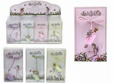 Fairyland Fairy Dust Glitter Charm Pendant Necklace Kids Girls Party Filler Toy