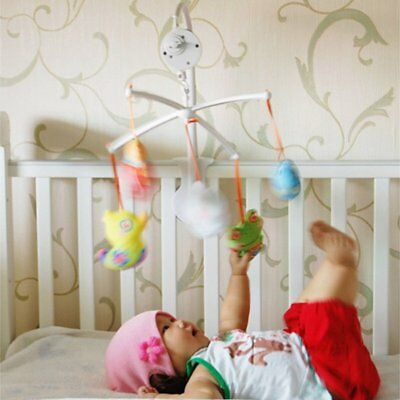 New Baby Crib Bed Nursery Mobile Toy Rotary Hanging Music Box Movement Bell Toy