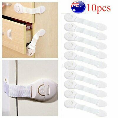 10x Kids Child Baby Pet Proof Door Fridge Cupboard Cabinet Drawer Safety Lock AU
