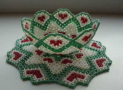 Handmade Beaded Doily
