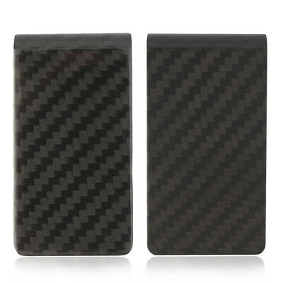 New Carbon Fiber Money Clip Matte Black Credit Card Holder Money Wallet GT
