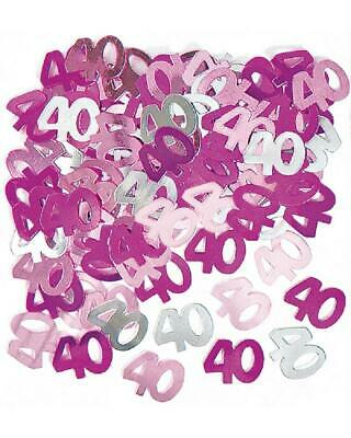 14g 40th Pink Happy Birthday Party Glitz Table Confetti Sprinkles Decorations