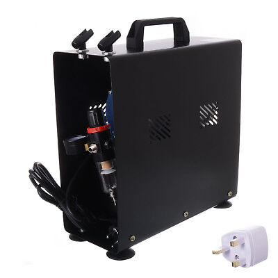 Professional Airbrush and Compressor With Tank Filter Regulator Cooling Fan Kit