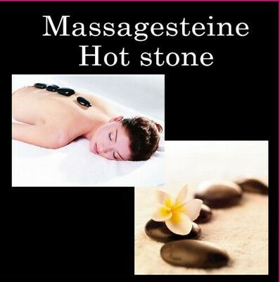 Massagesteine Hot Stones 9 Basalt Steine für Hot Stone Massage Steine #5962