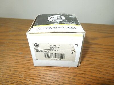 Allen-Bradley 700-HG45A1 30AMPS SPST-NO-DM 120VAC Control Relay New Surplus
