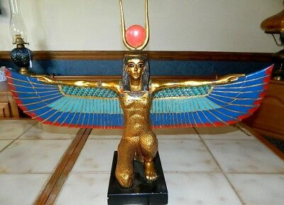 Vintage Large AGI Museum Quality Handcrafted Statue Of Egyptian Goddess Isis