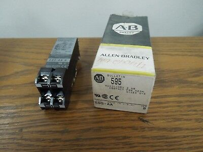 Allen Bradley 595-AA Series B 2- NO Auxiliary Contact for NEMA Sizes 0-5 New