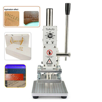 8*10CM Foil Stamping Machine 220V Leather PU Card Hot Embossing Bronzing Marking