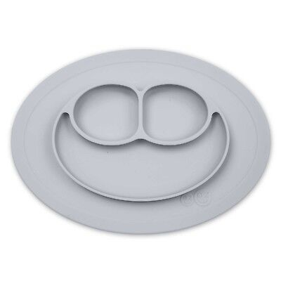 Baby Plate ezpz Mini Happy Mat Placemat in Pewter Grey Plate and Mat in One