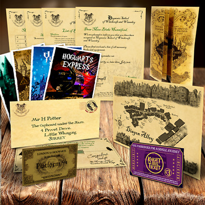 Harry Potter PERSONALISED Hogwarts Acceptance Letter QUALITY Maps + More