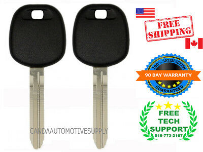 2 New Transponder Ignition Chip Car Key Fits Toyota Camry Sienna TOY43AT4 4C TG
