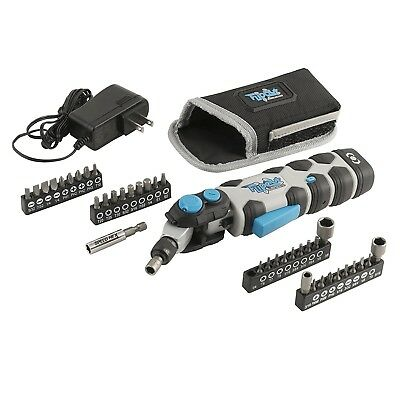 SpeedHex Cordless Screwdriver FlipOut with Bonus Bits Variable Speed Tool