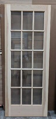 "Hickory 15-Lite Glass Interior Door 32"" x 80"" x 1-3/8"" - slab or prehung"