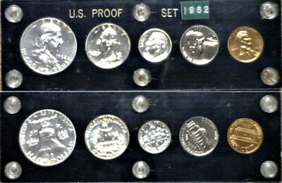 1962 Silver Proof Set In Black Capitol Plastics Holder
