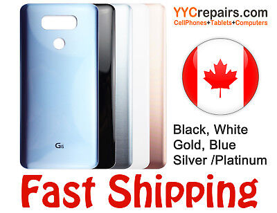 LG G6 Rear Back Door Glass Panel Battery Cover Housing Replacement + Adhesive