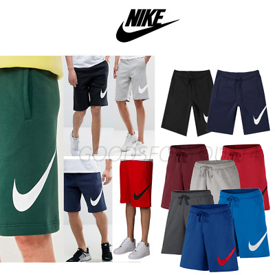 Nike Club Shorts With Large Logo Fleece Exp 843520 Black, Grey, Obsidian, Red