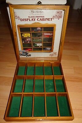Vintage Berkertex Collectables Glass Fronted Display Cabinet - For Model Cars