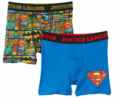 DC Comics Justice League Boys Athletic 2-pk. Boxers Briefs Size 10 New