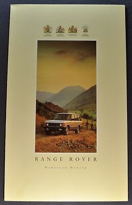 1990 Range Rover Sales Brochure Folder Excellent Original 90