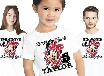 MINNIE MOUSE BIRTHDAY Shirts Shirt T Shirt Family Party Theme