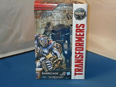 2016 Hasbro Transformers The Last Knight Premier Edition Barricade Toy NMISB!