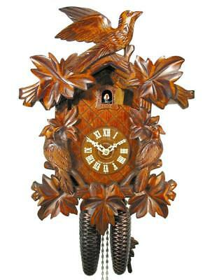 Original German cuckoo-clock certified, mechanical 8-day movement with 3 birds 7