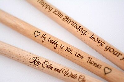 Any Word Father's Gift Birthday Personalise pen engrave wedding wife Dad teacher