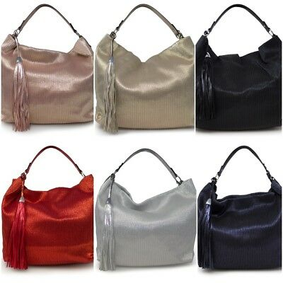 Ladies Top Handle Shimmer Luxury Elegant Grab Bags Tote Shoulder Handbags - 5310