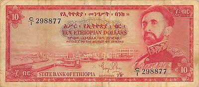 Ethiopia  $10  ND. 1961  P 20a  Series  C/1  Circulated Banknote  RAHLB