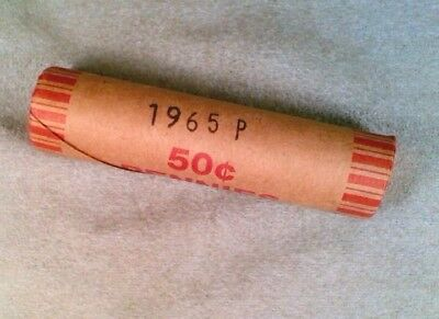 1965-P BU Lincoln Cent Roll 50 Coins (001)