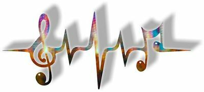 DXF CNC dxf for Plasma Music Heartbeat Man Cave Wall Art Home Decor