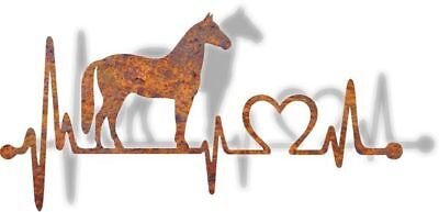 DXF CNC dxf for Plasma Horse Heartbeat Man Cave Wall Art Home Decor